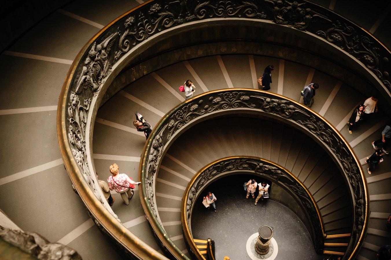 Smartphonefotografie, Symmetrie im Foto einer Treppe