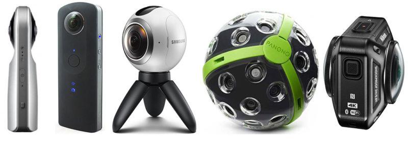 Kamera für 360 - Grad - Fotografie/360° Aufnahme