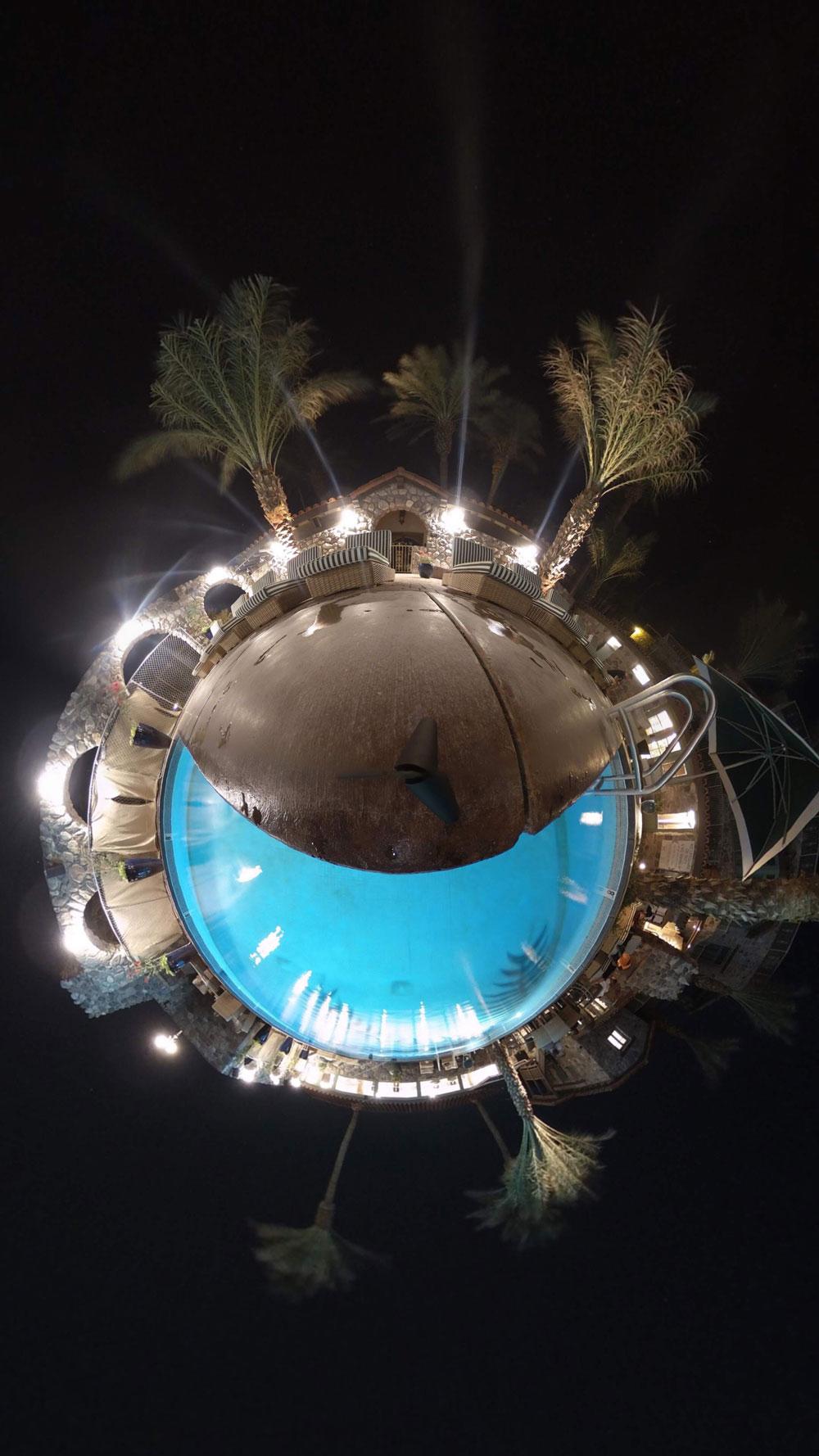 360-Grad - Fotografie/360-Grad-Aufnahme Betrachter sieht Kulisse von oben