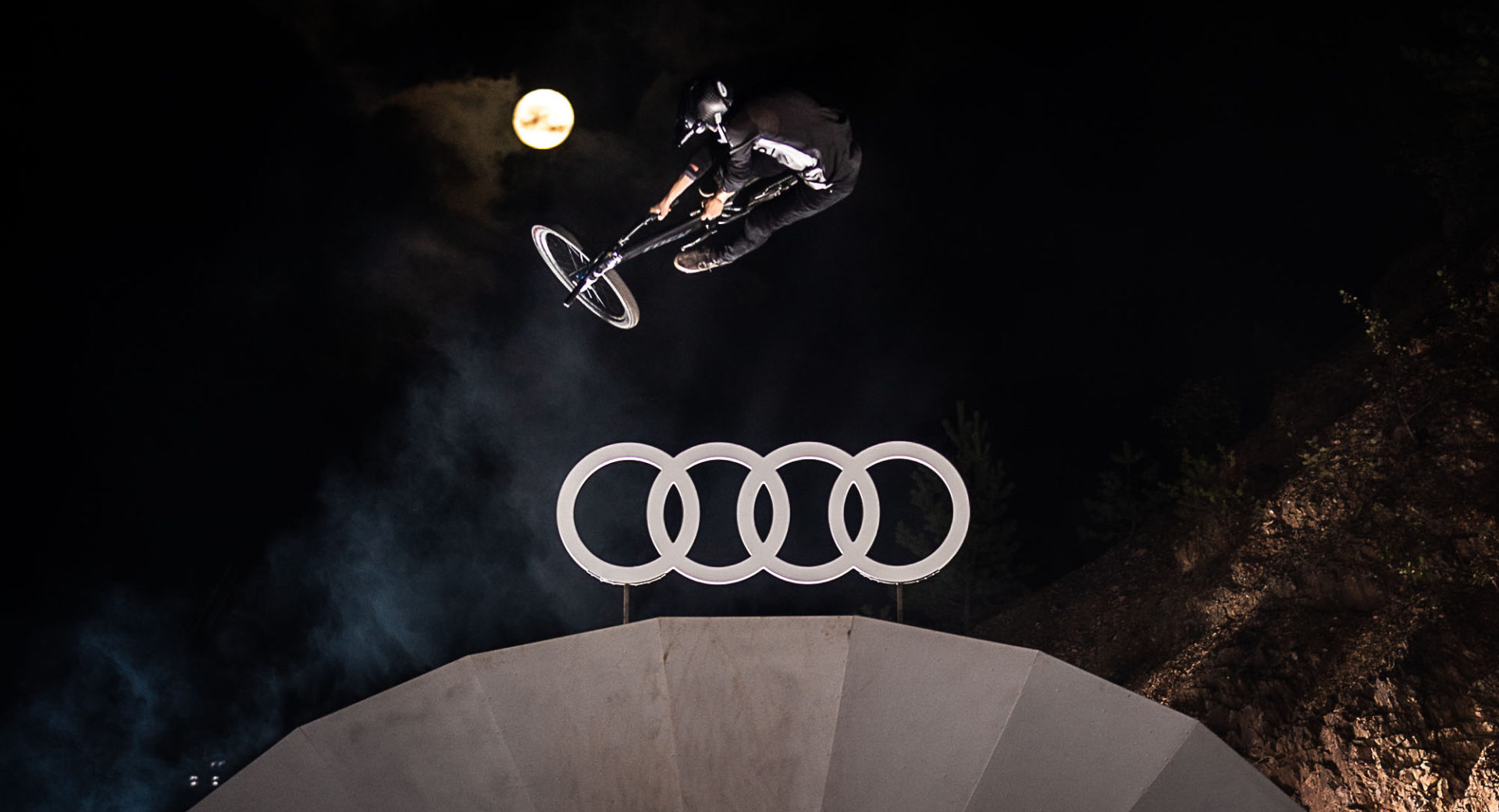 Audi Nines MTB 2019 Action Eventvideo Musikvideo Filmproduktion in Frankfurt Sprungschanze