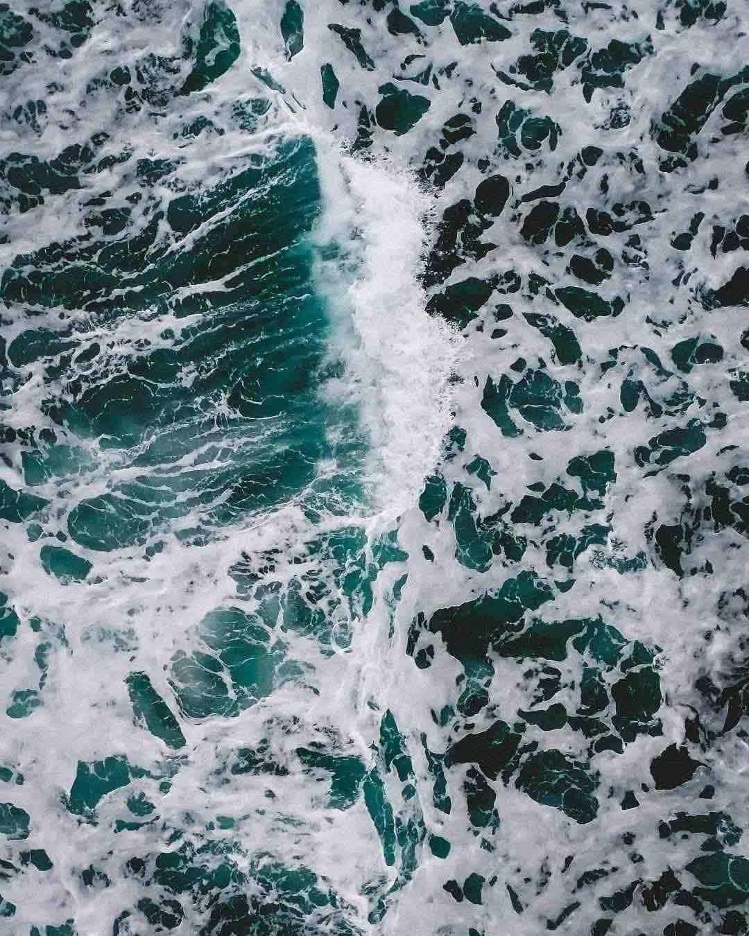 Drohnenaufnahme Meer