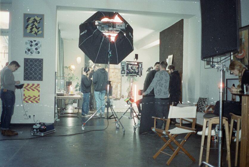 Wirecard Werbefilm Filmproduktion in Berlin Set