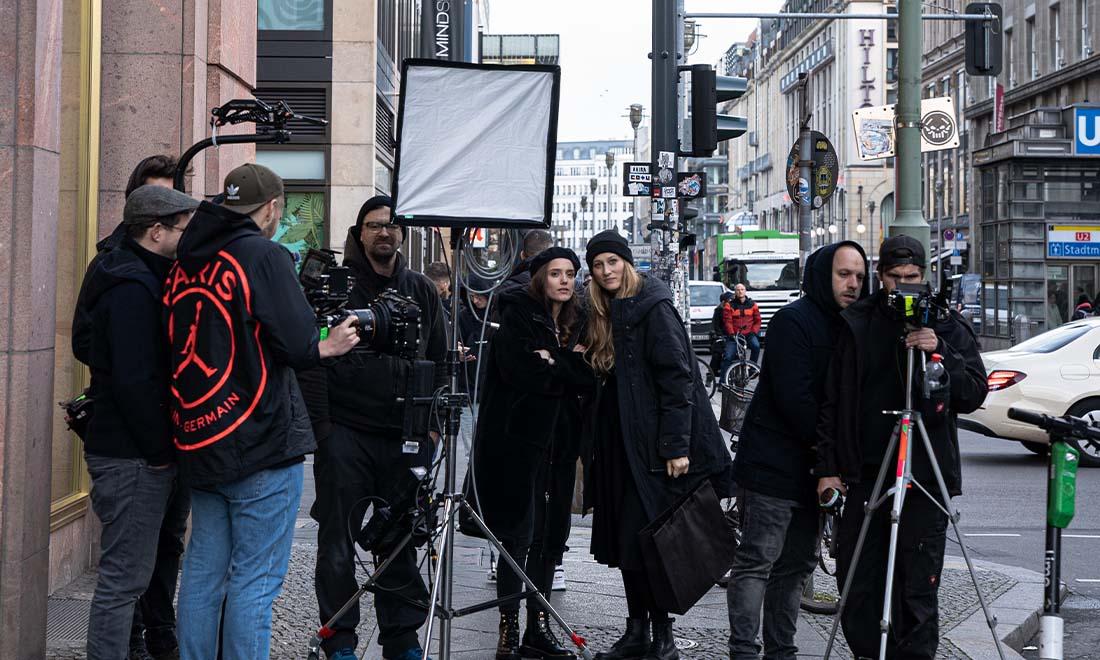 Filmteam Outdoor Berlin Filmset