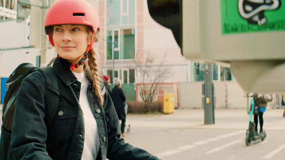 Filmproduktion Werbefilm München e-bike Ampel